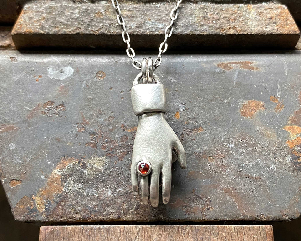 Heart in Hand Necklace