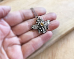 Honey Bee necklace