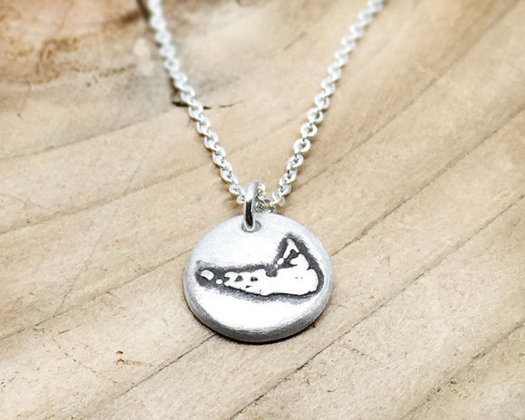 Tiny Nantucket Necklace in Silver