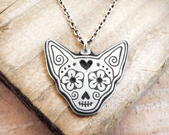 Chihuahua Sugar Skull Necklace
