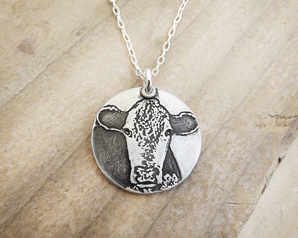 Hereford Cow Necklace