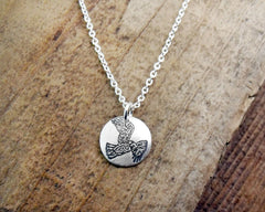Tiny Red Tail Hawk Necklace
