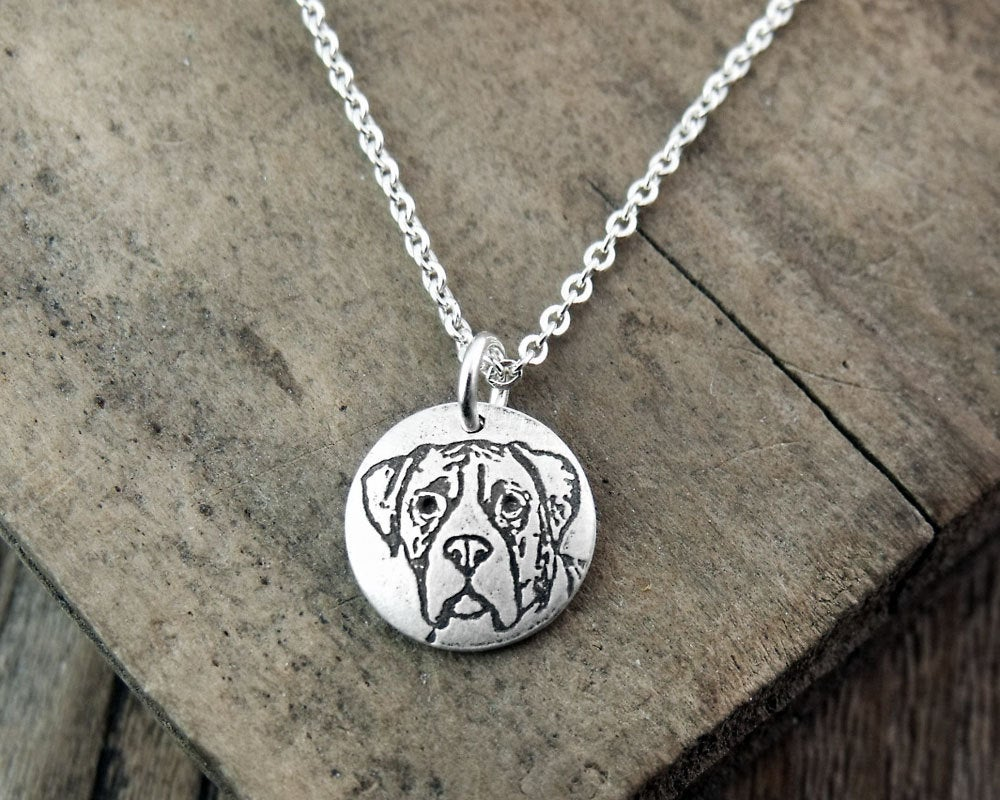 Tiny Boxer Necklace