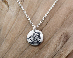 Tiny Chickadee Necklace