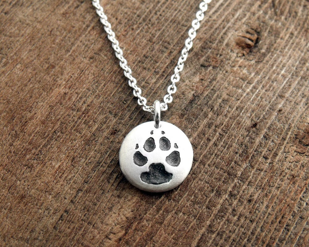 Tiny Dog Paw Print Necklace