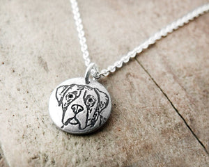 Tiny Boxer Necklace in Silver