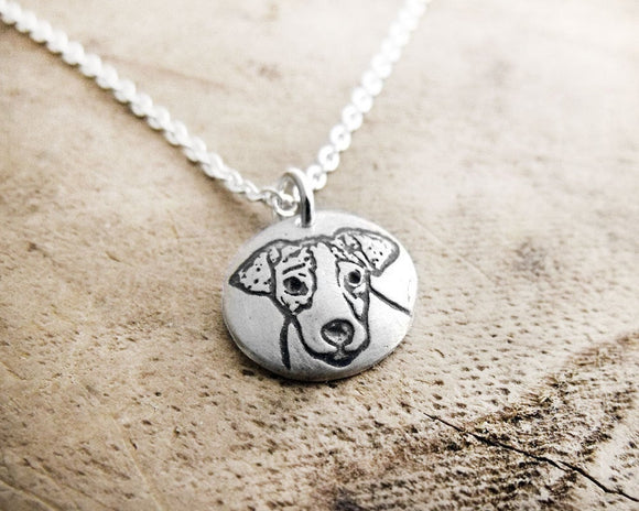 Tiny Jack Russell Necklace in Silver