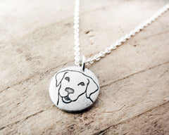 Tiny Yellow Labrador Retriever Necklace