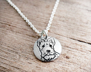 Tiny Scottish Terrier Necklace in Silver
