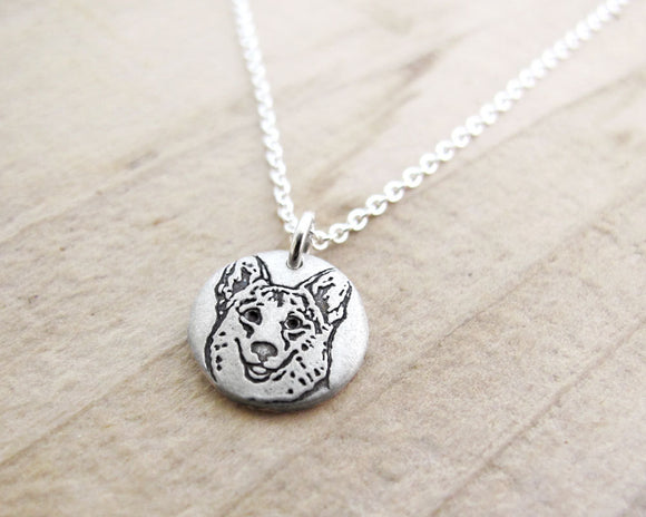 Tiny Corgi Necklace in Silver