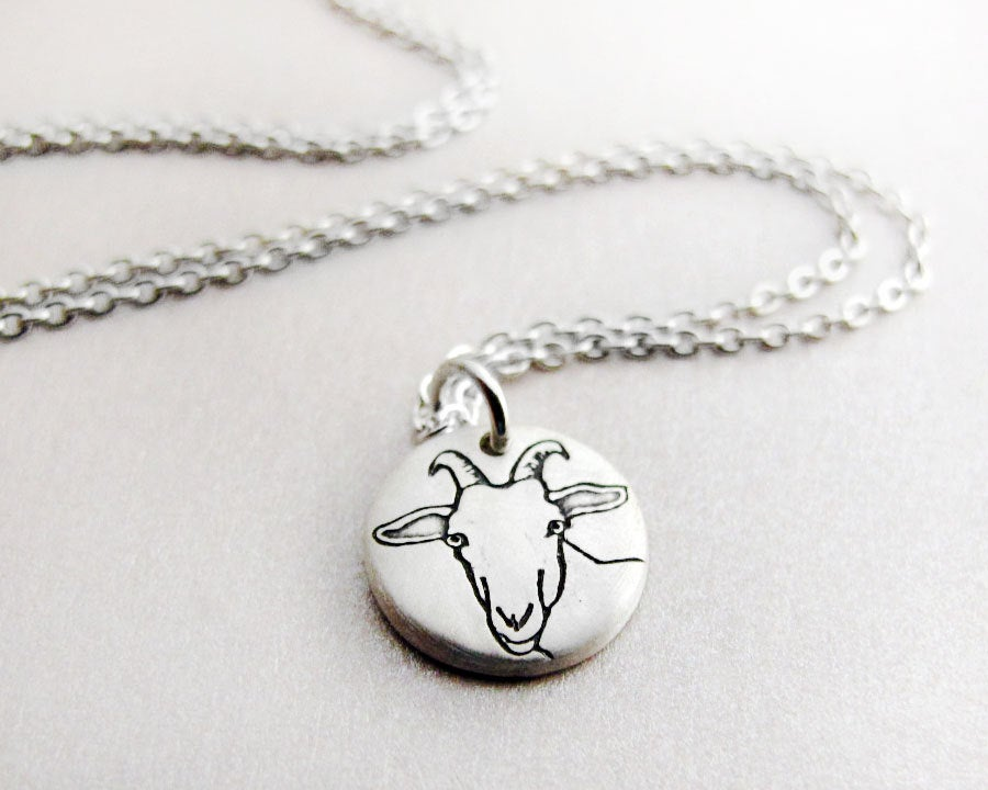 Tiny  Dairy Goat Necklace