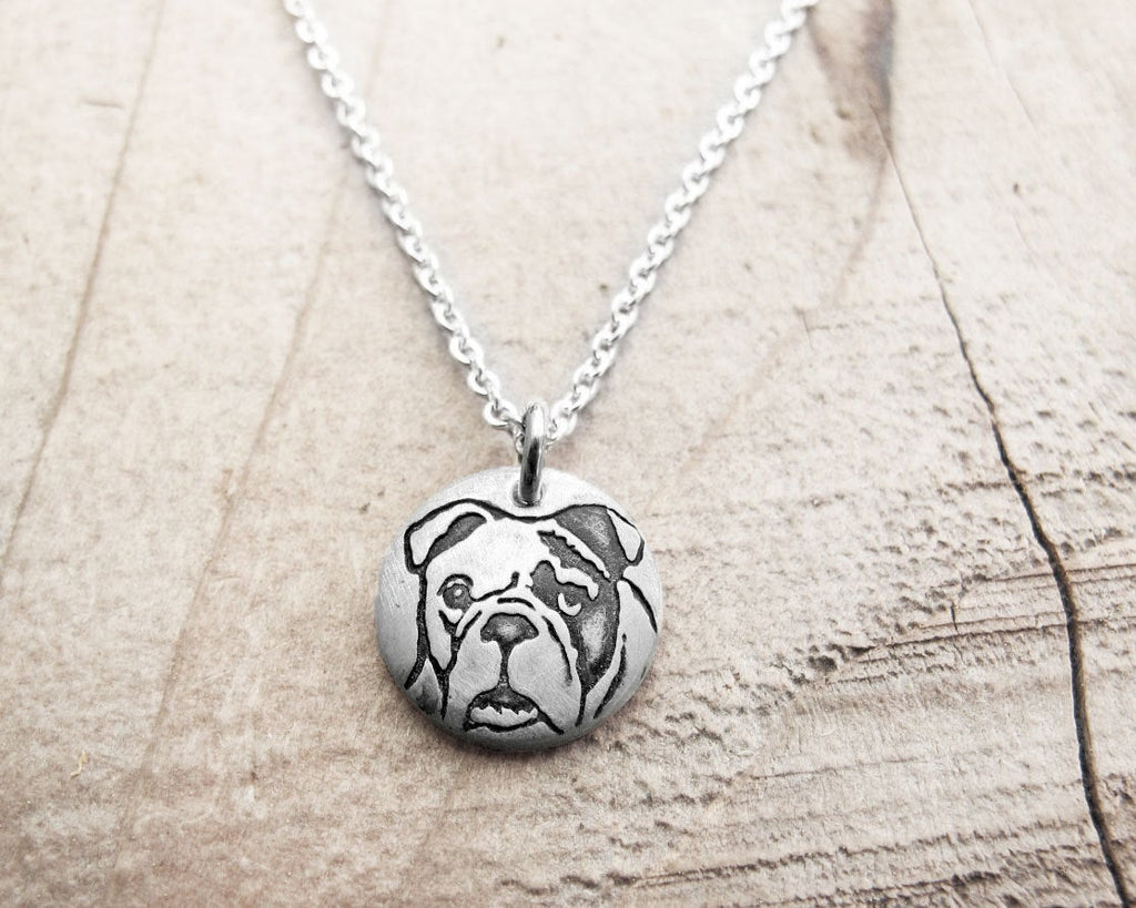 Tiny Bulldog Necklace