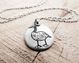 Little Canada Goose Necklace in Silver
