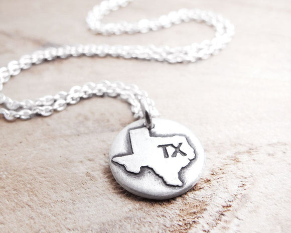 Tiny Texas necklace in silver