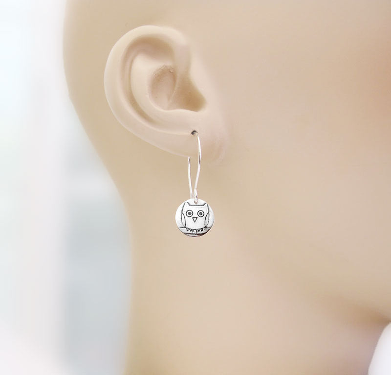 Tiny Owl Earrings