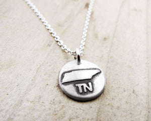 Tiny Tennessee necklace in silver