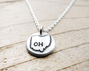 Tiny Ohio Necklace in Silver