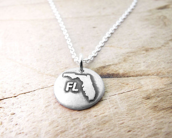 Tiny Florida Necklace in Silver