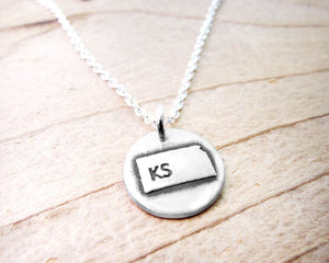 Tiny Kansas Necklace in Silver