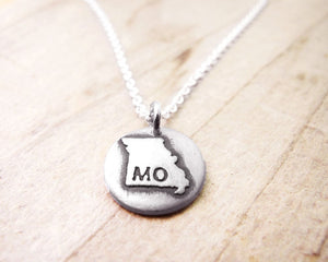 Tiny Missouri Necklace in Silver