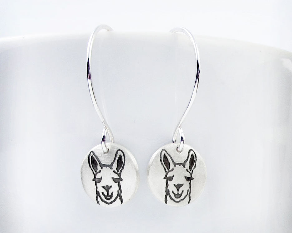 Tiny Llama Earrings