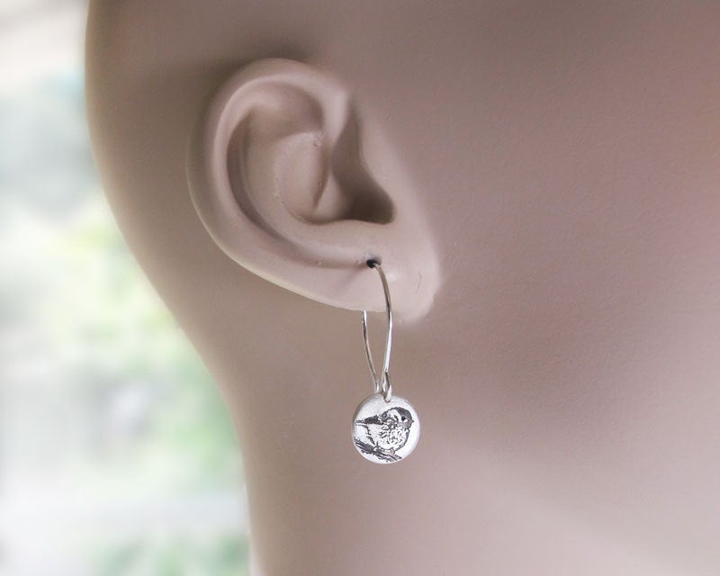 Tiny Chickadee Earrings