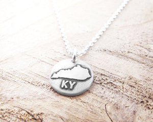 Tiny Kentucky Necklace in Silver