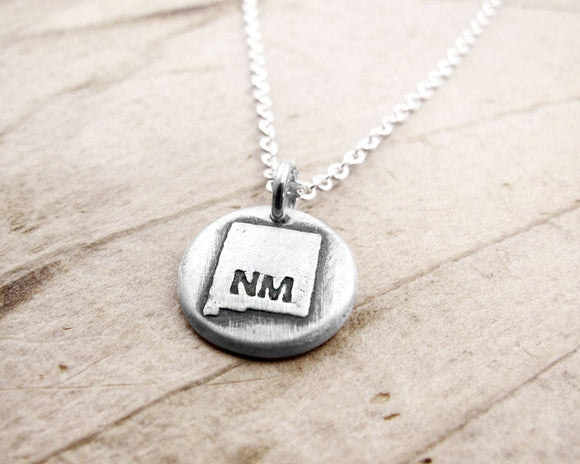 Tiny New Mexico Necklace in Silver