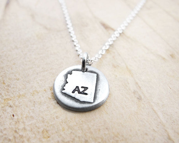 Tiny Arizona Necklace in Silver