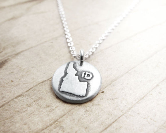 Tiny Idaho Necklace in Silver