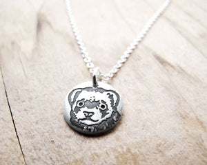 Tiny Ferret Necklace in Silver