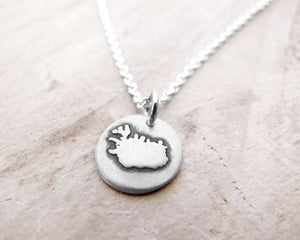Tiny Iceland Necklace in Silver