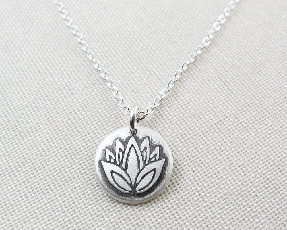 Tiny Lotus Flower Necklace