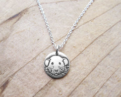 Tiny Dumbo Rat Necklace