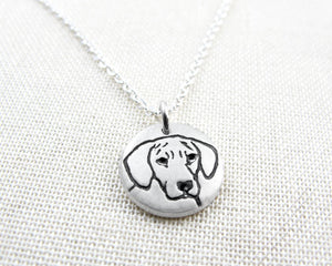 Tiny Rhodesian Ridgeback Necklace in Silver