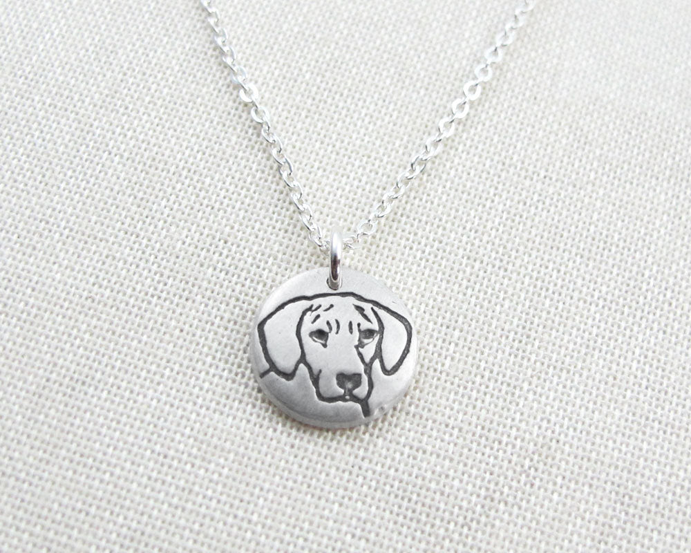 Tiny Rhodesian Ridgeback Necklace