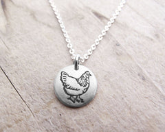 Tiny Chicken Necklace