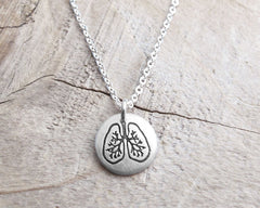 Tiny Lungs Necklace