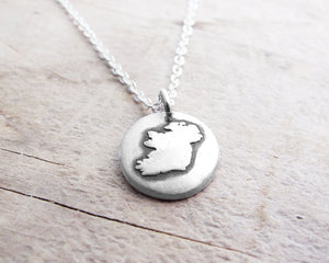 Tiny Ireland Necklace in Silver