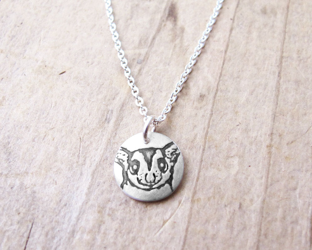 Tiny Sugar Glider Necklace