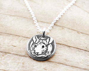 Tiny Chinchilla Necklace in Silver