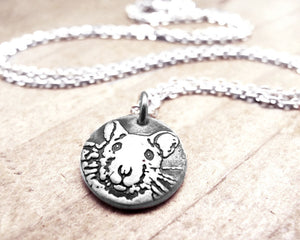 Tiny Silver Rat Necklace