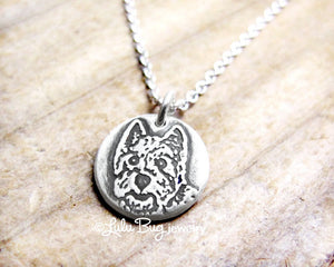 Tiny Westie Necklace in Silver