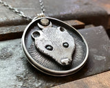 Opossum Moon Necklace