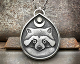 Raccoon Moon Totem Necklace