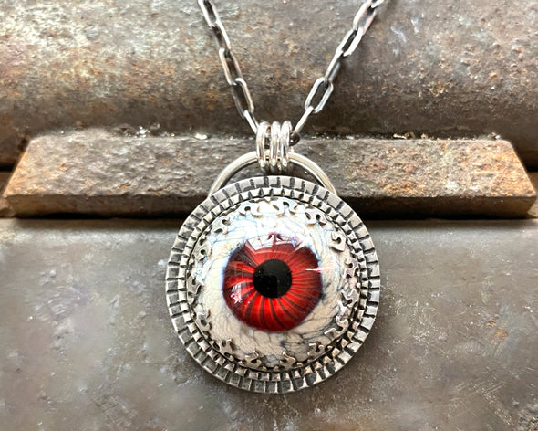 Red Glass Eye Necklace