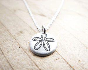 Tiny Silver Sand Dollar Necklace