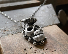 Skull with Flower Necklace