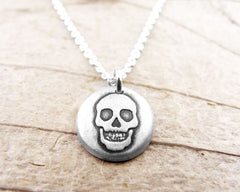 Tiny Skull Necklace