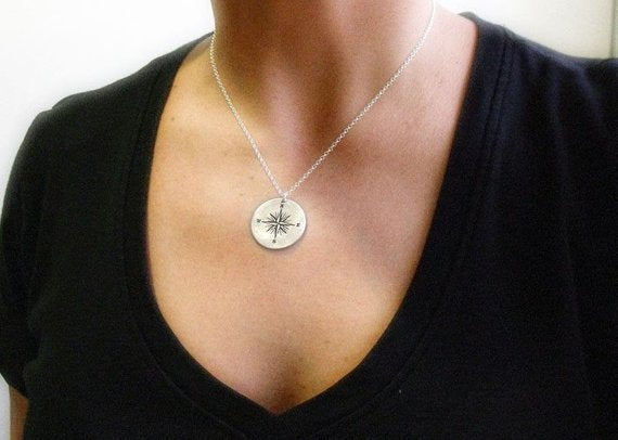 You are My True North Compass Necklace